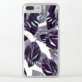 Tropical Purple Clear iPhone Case