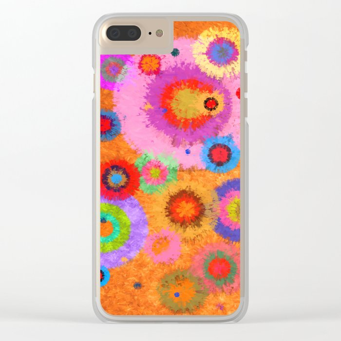 Abstract #427 Splirkles #4 Clear iPhone Case