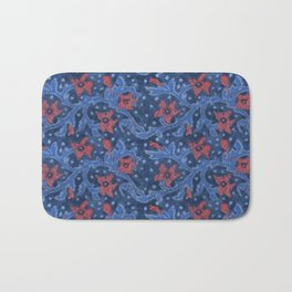 Felt Flowers Flower Branch Floral Pattern Wool Fiber Painting  Bath Mat
