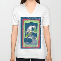 charlie V-neck T-shirts featuring Charlie by Huiskat