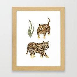 Jungle Tigers light by Veronique de Jong Framed Art Print