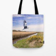 The hungry Heron Tote Bag