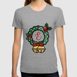 'E' Monogram Wreath T-shirt