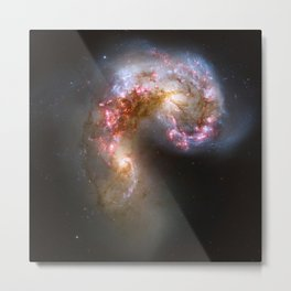 Galaxy tornado nebula bright stars constellation cluster swirl hipster star Nasa space photograph Metal Print