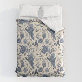 Blue Floral Pattern Comforters