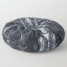 Maiden In The Machine Floor Pillow