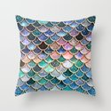 Multicolor Pink And Aqua Mermaid Scales - Beautiful Abstract Glitter Pattern  by betterhome