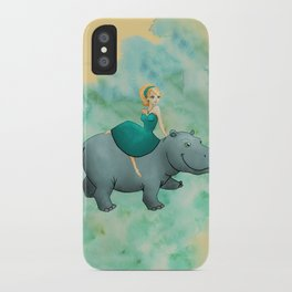 Lovely Hippo iPhone Case