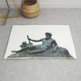 Sculpture of Zeus in Versailles Rug
