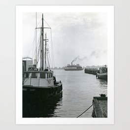 Governor Carr Ferry, Newport, Rhode Island Art Print