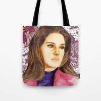 ultraviolence Tote Bags featuring LANA II by Share_Shop