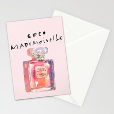 Perfume Coco Mademoiselle Illustration Stationery Cards