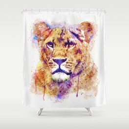 Lioness Head Shower Curtain