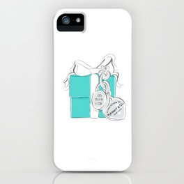 Blue Gift Box iPhone Case