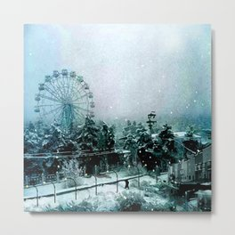 Cold Forest Playground Metal Print