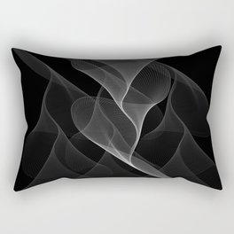 Black and White Flux #minimalist #homedecor #generativeart Rectangular Pillow