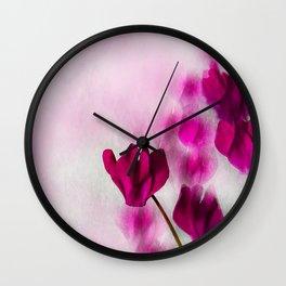 Pink Cyclamen Impressions Wall Clock