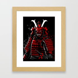 Demon Samurai Framed Art Print