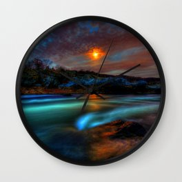 Martian Life in Great Falls Park Wall Clock