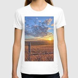 Sunset Fenceline 2 T-shirt