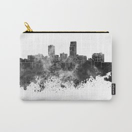Omaha skyline in black watercolor Carry-All Pouch