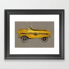 Earth Mover Pedal Car Framed Art Print