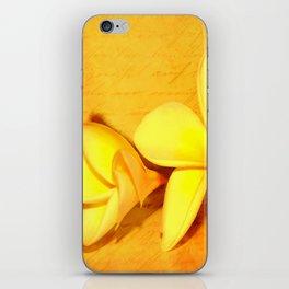 Yellow Plumeria iPhone Skin