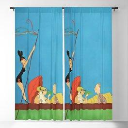 """Gondola Ride"" by Annie Fish Blackout Curtain"