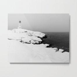 Blanket of White Metal Print