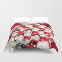 wedding Duvet Covers featuring Wedding Roses by MehrFarbeimLeben