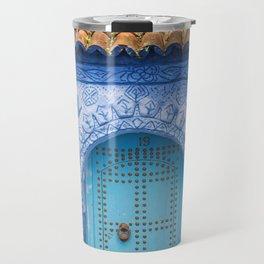 Doorways - Morocco - Chefchaouen The Blue City 19 Travel Mug