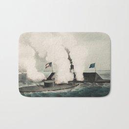 Monitor vs. Merrimac - Ironclad Civil War Battle Bath Mat