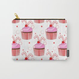 Christmas Cupcakes Carry-All Pouch