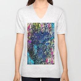 Abstract 100 Unisex V-Neck