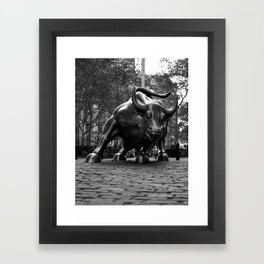 Wall Street Bull Framed Art Print