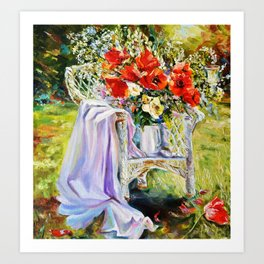 Bouquet of wildflowers. Art Print