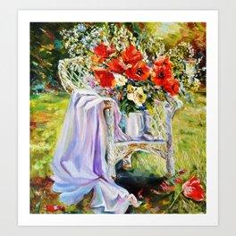 Bouquet of wildflowers. Art Print