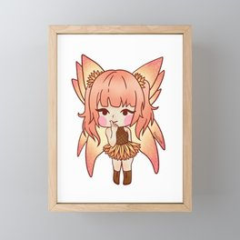 Fee sun magic fairy tale girl gift Framed Mini Art Print