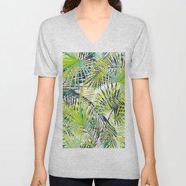 Jungle Palm Leaves Design Unisex V-Neck
