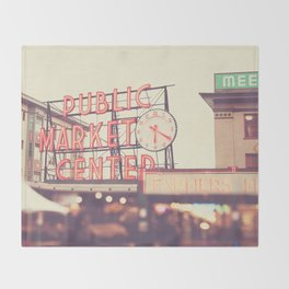 Seattle Pike Place Public Market photograph, 620 Throw Blanket