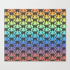 Butterfly pattern in color Canvas Print