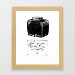 The Pen is Mightier Framed Art Print