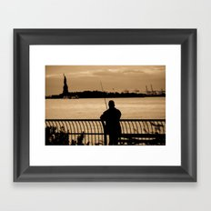 NYC fishing Framed Art Print