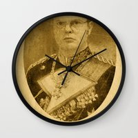 dwight schrute Wall Clocks featuring Kaiser Dwight by ThePencilClub