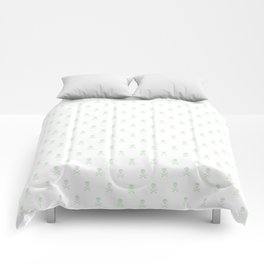 LIGHT GREEN SKULLS ALL OVER PRINT LARGE Comforters