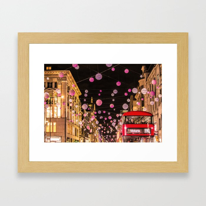 Londn Xmas christmas Framed Art Print