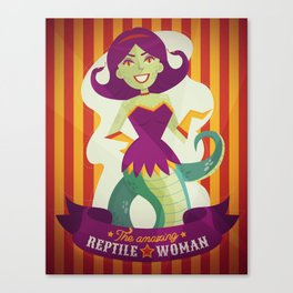 The amazing reptile woman Canvas Print