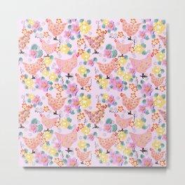 Floral Easter  pattern  Metal Print