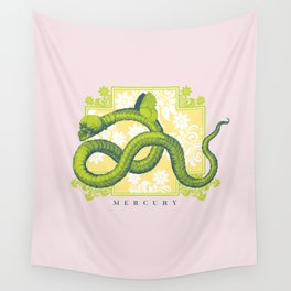 Crucified Serpent Wall Tapestry