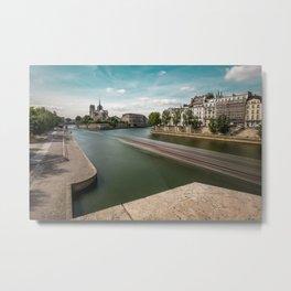 La Seine river Paris Metal Print